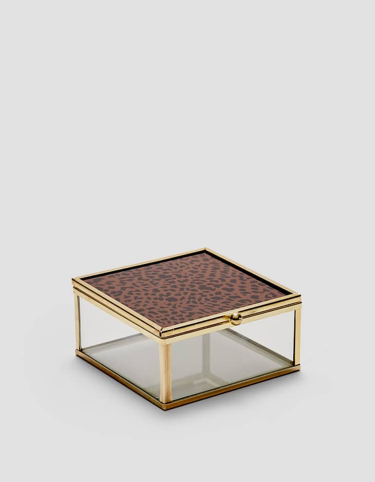Metal and leopard print box