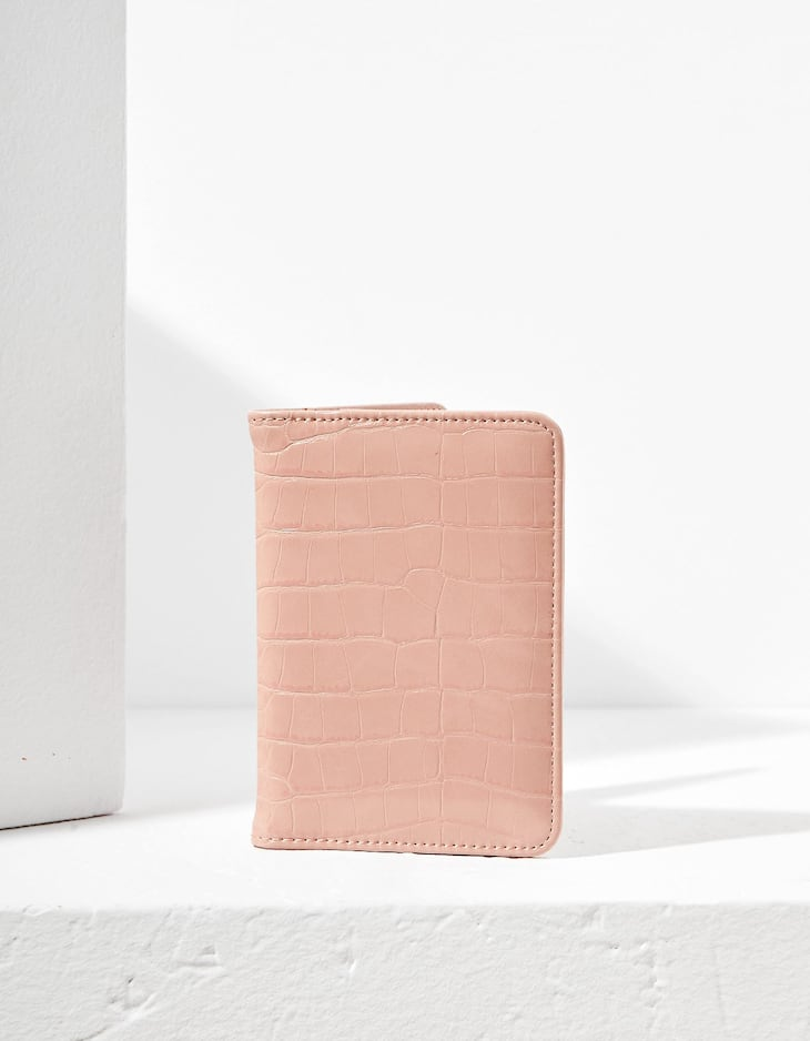 Mock croc passport holder