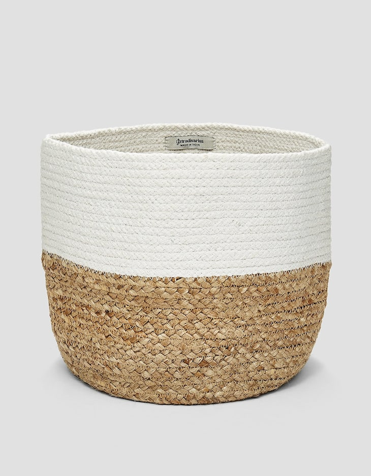 Cotton and jute basket