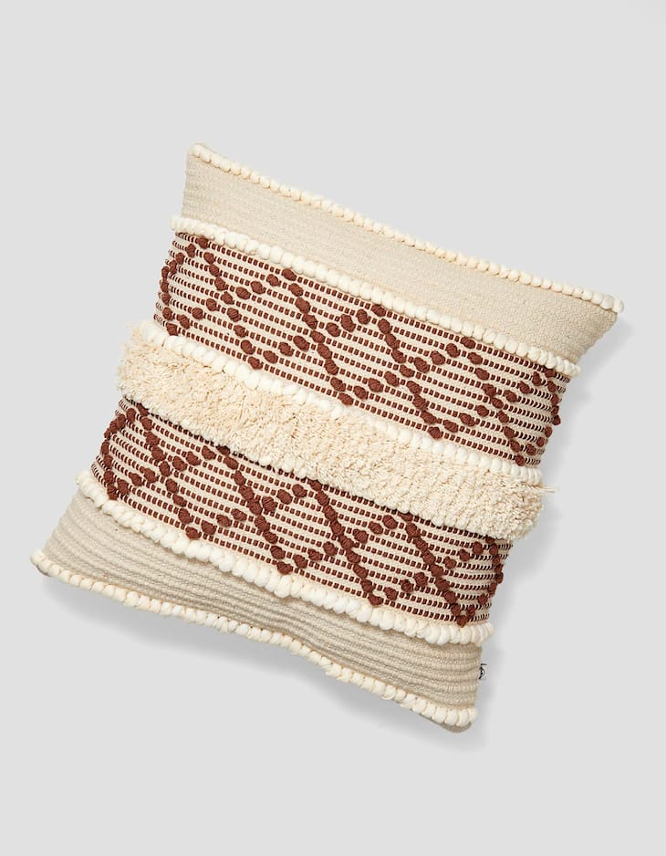 Macramé lattice cushion cover
