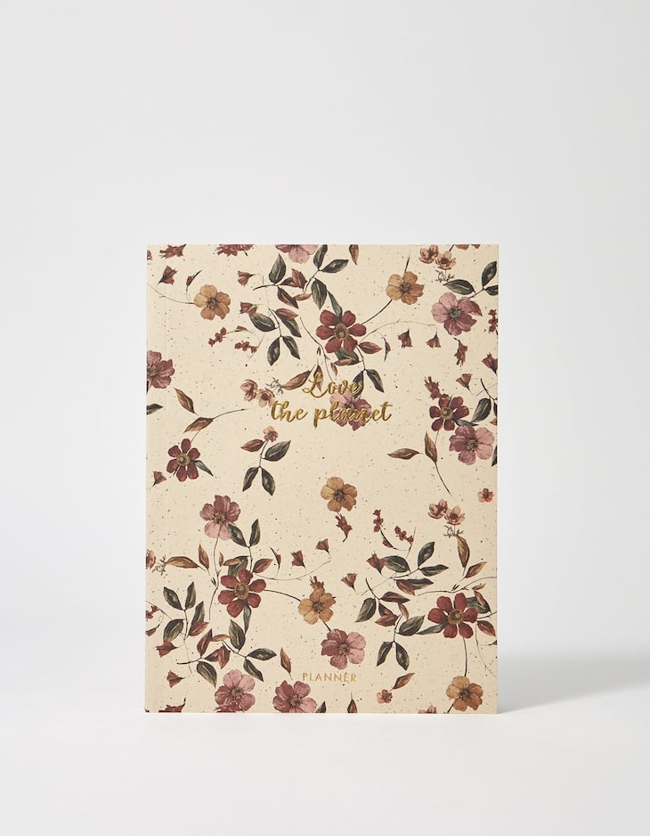 Floral print notebook