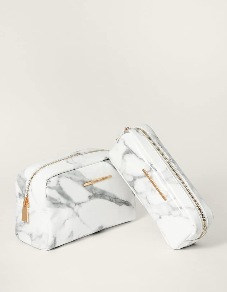 Necesser print marbre