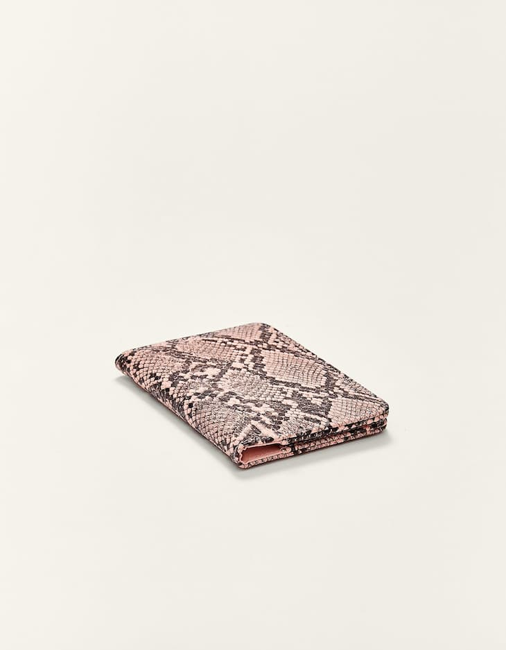 Snakeskin print passport cover