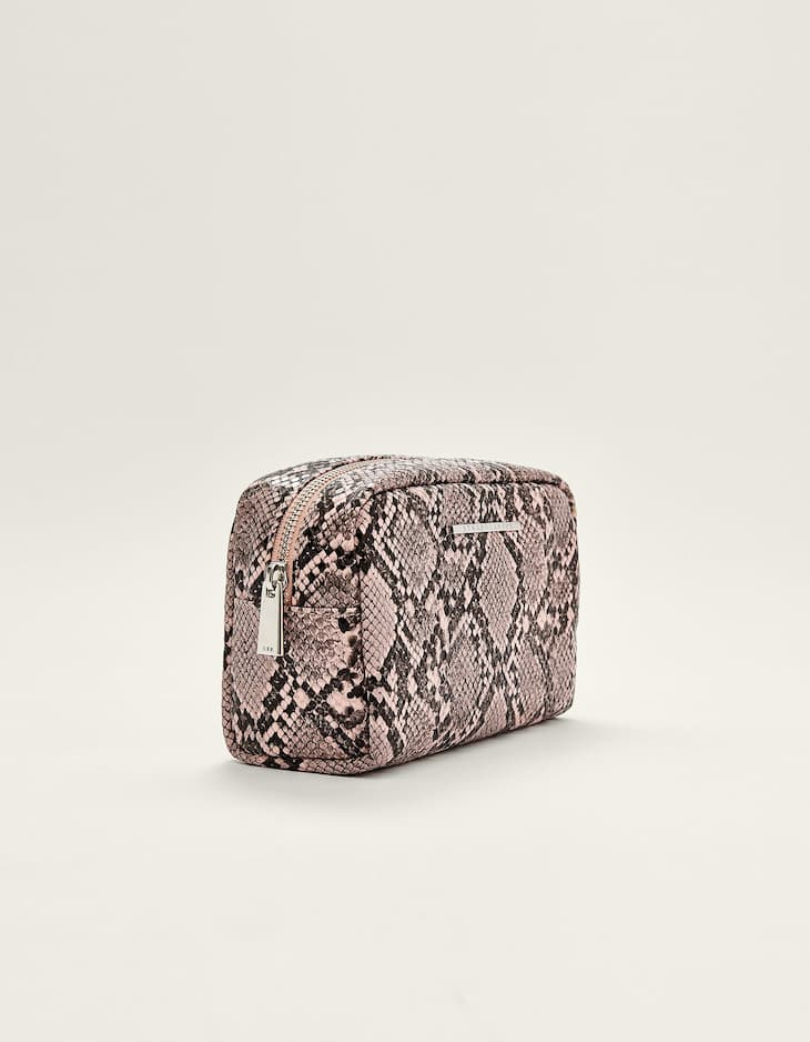 Snakeskin toiletry bag