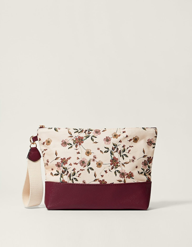 Combined floral toiletry bag