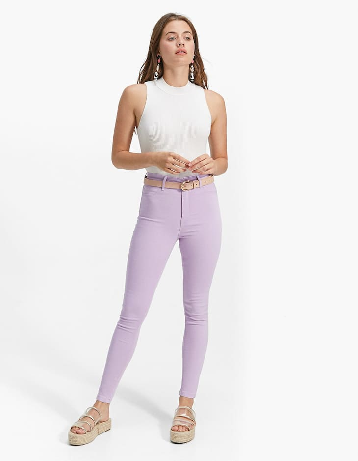 Basic super high waist trousers