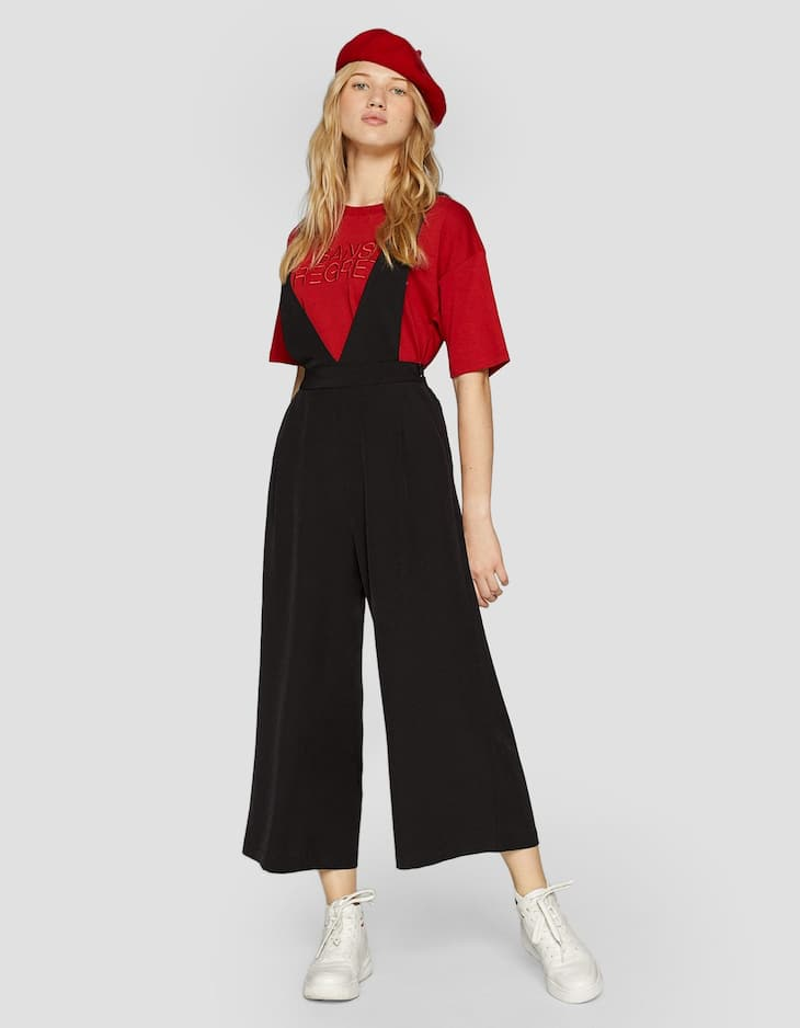 Smart trousers with straps