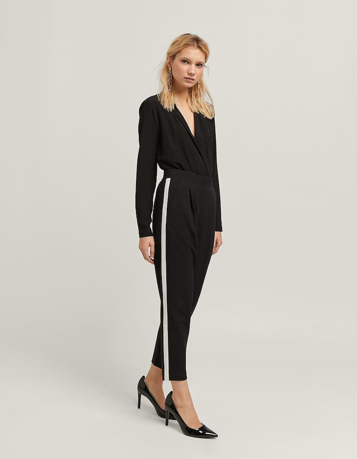 Side Stripe Peg Trouser