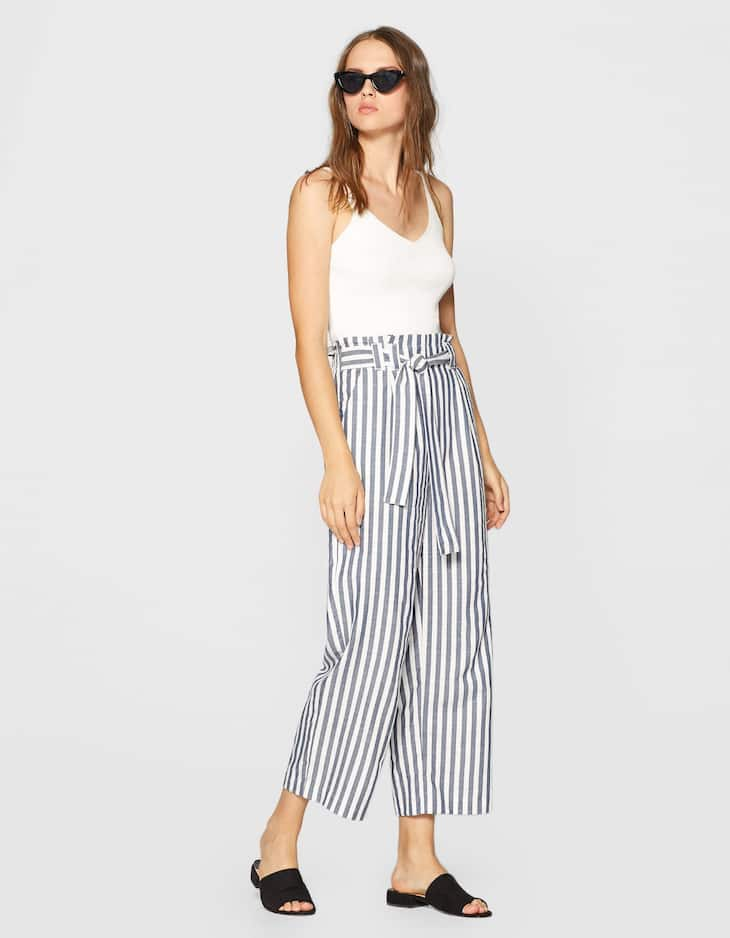 Cotton cropped pant
