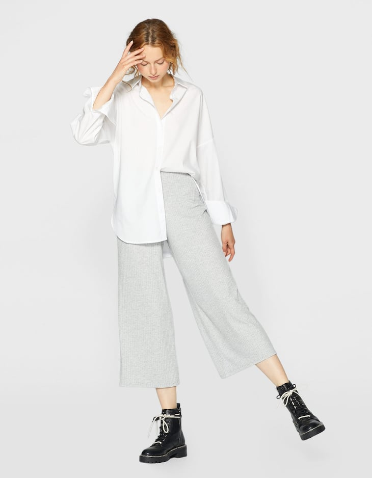 Culotte mit Rippenmuster