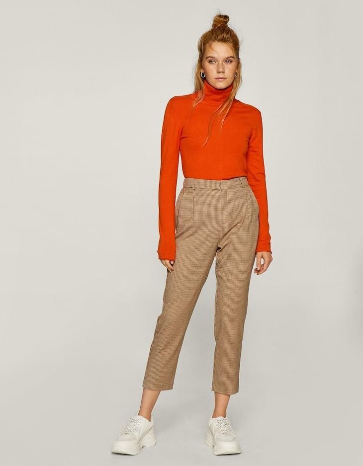 Pantaloni a carota zipper