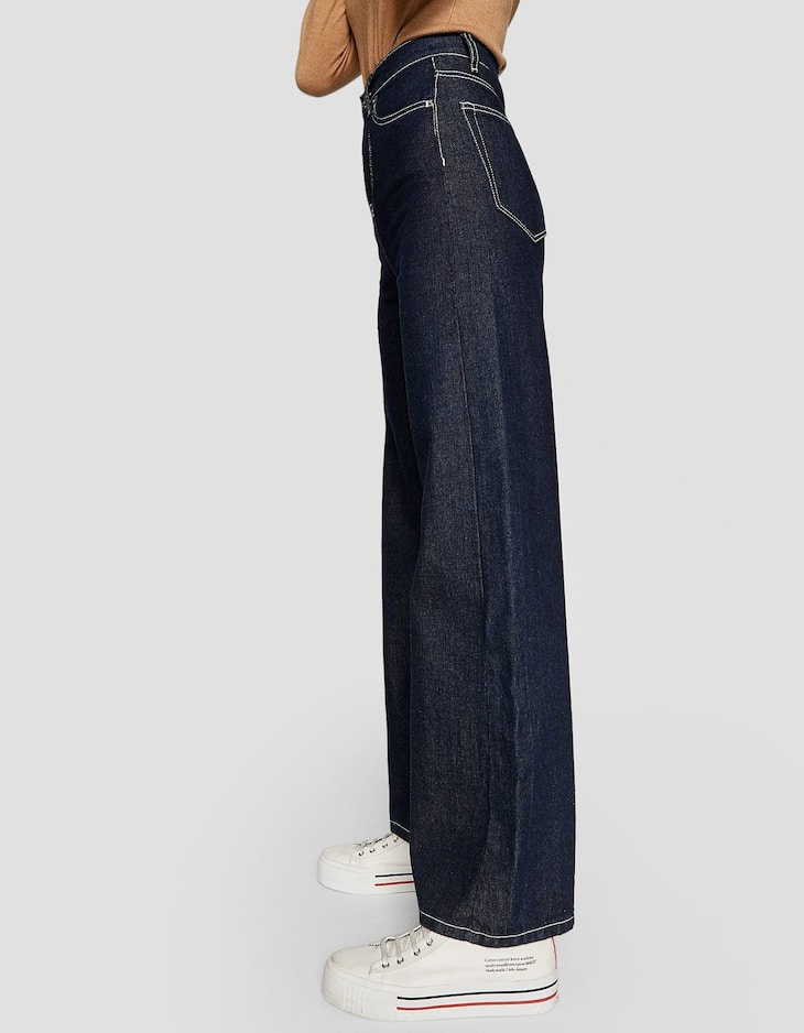 Super high waisted wide-leg jeans