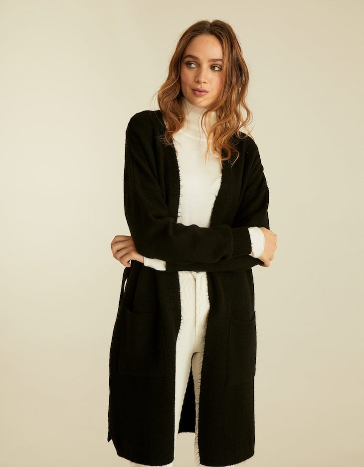 Pocket midi length cardigan