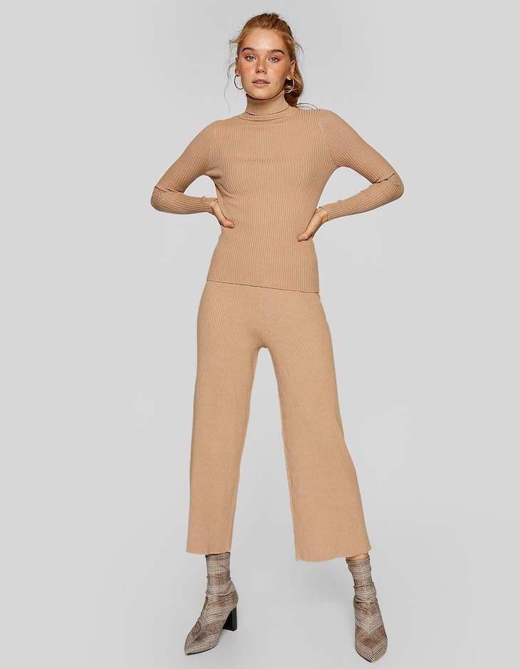 Sweater and culottes set