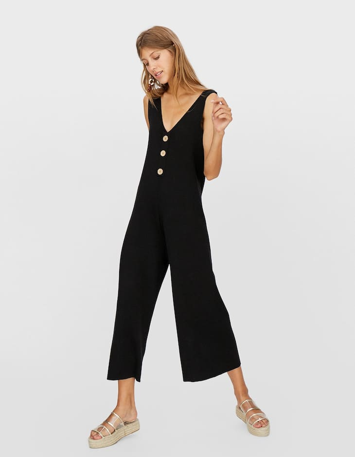 8706e012c2e Jumpsuit with buttons - Dresses and Jumpsuits