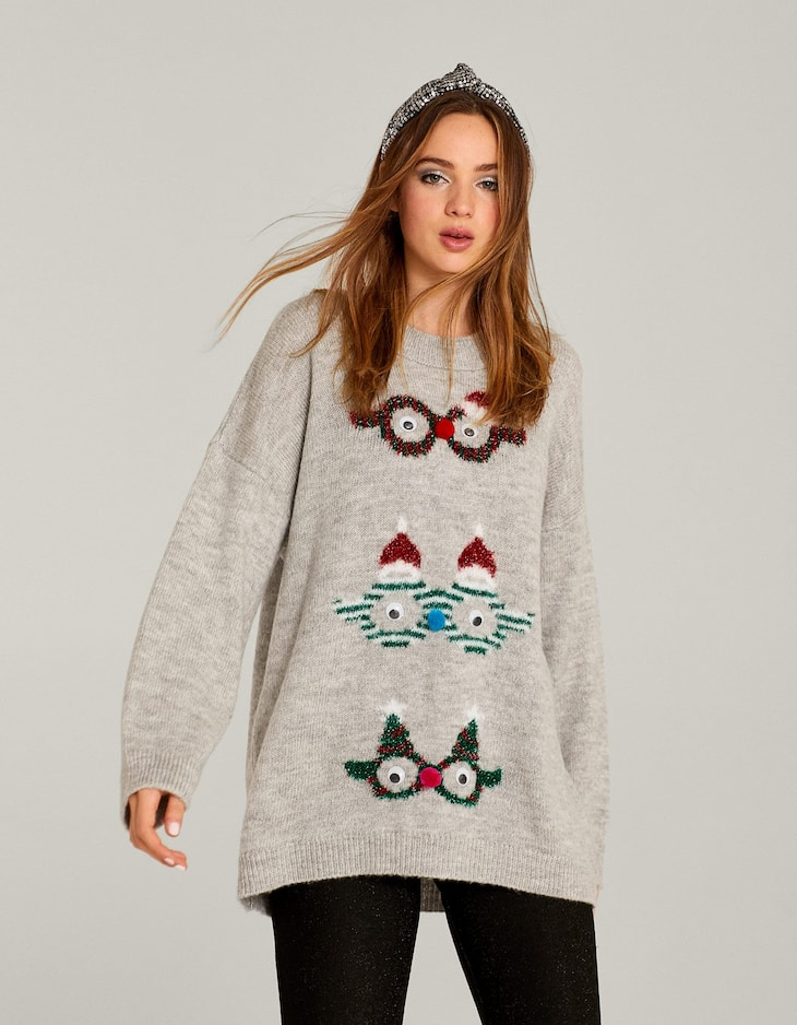Christmas sweater with sunglasses