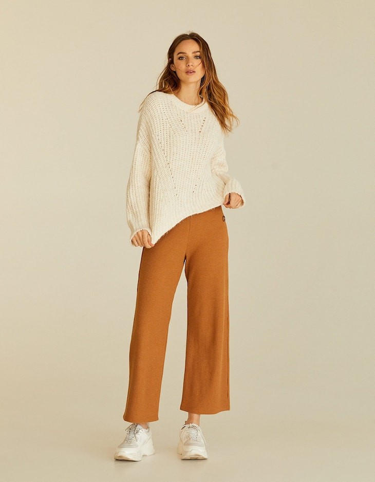 Jersei cropped cozy