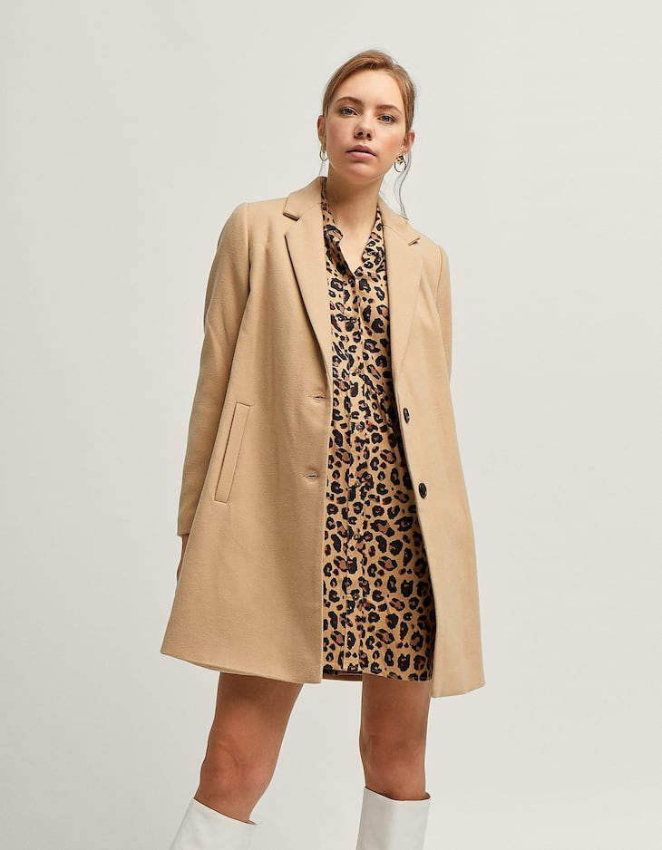 Coat with lapels