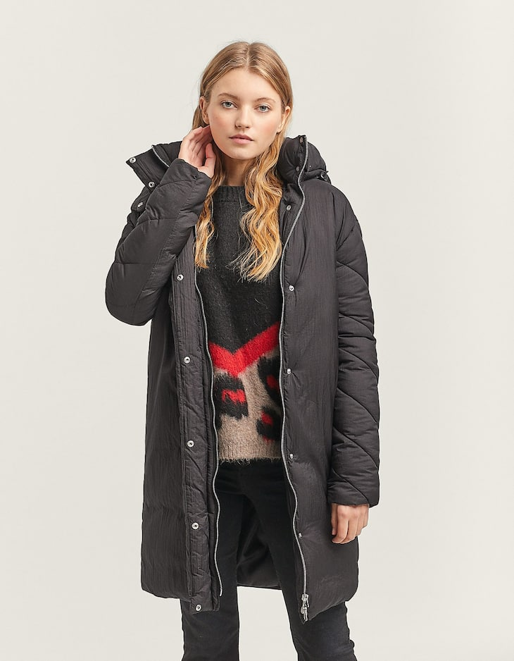 Anorak in two materials