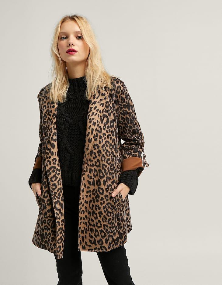 Veste tailleur imprimé léopard