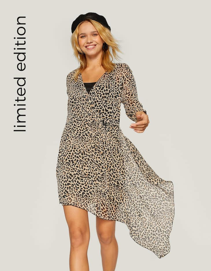 Short leopard print dress