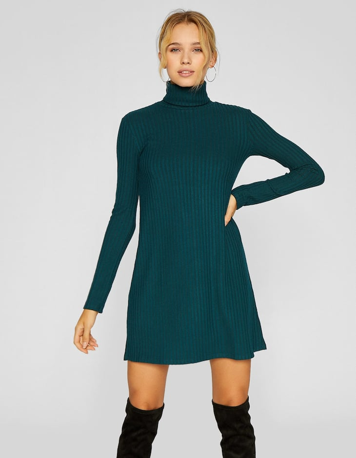 Short turtleneck dress