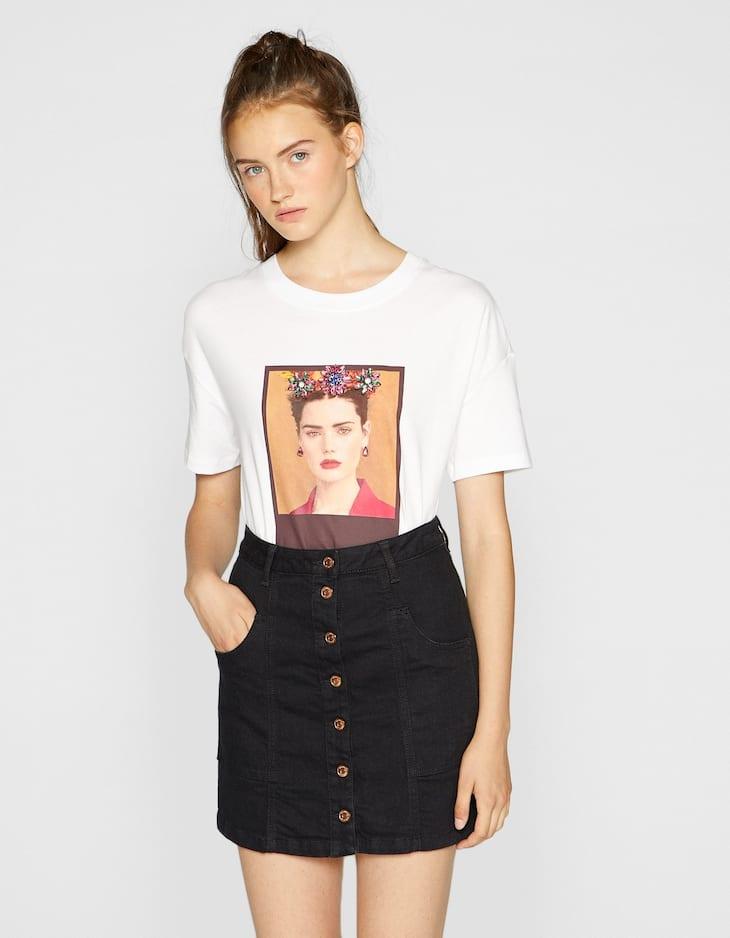 Shirt met jewel print