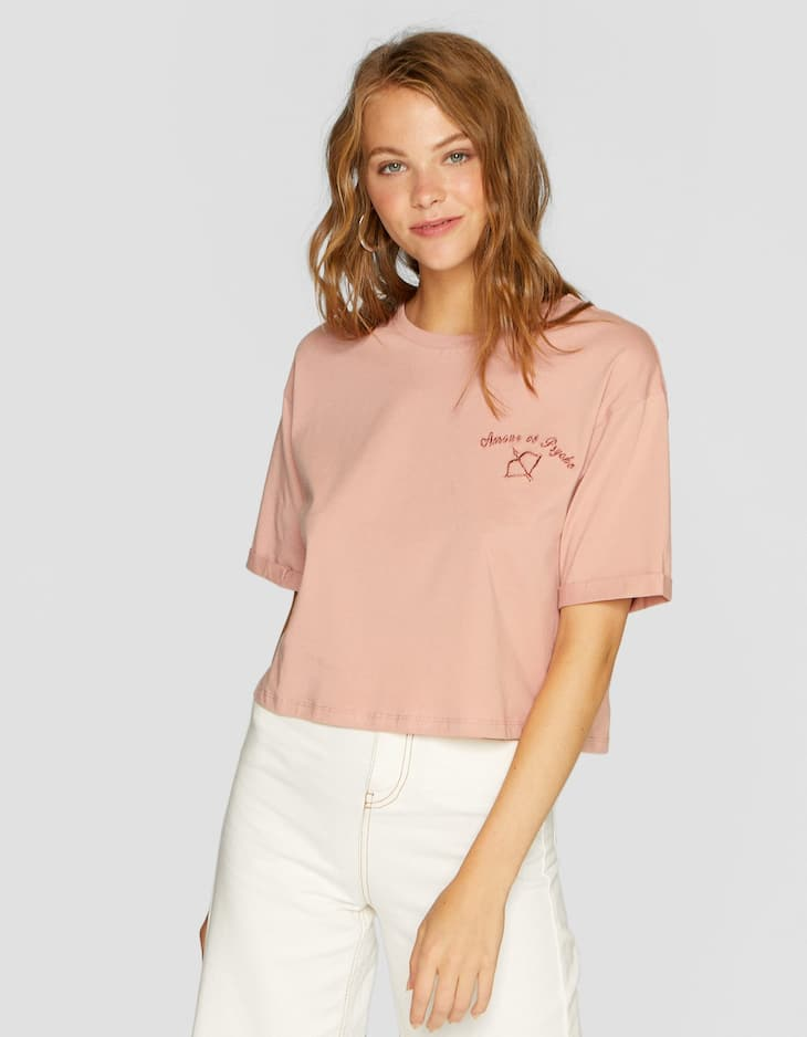 Camiseta crop flock