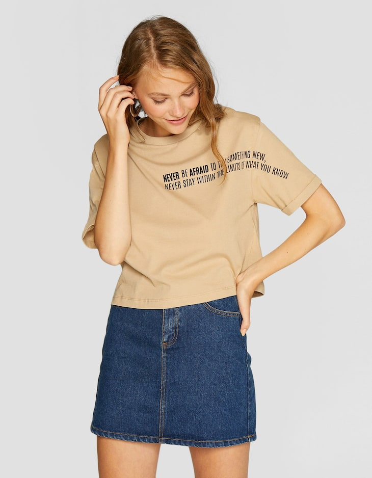 Camiseta crop flock