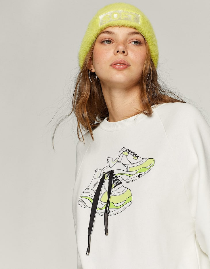 Neon trainers sweatshirt