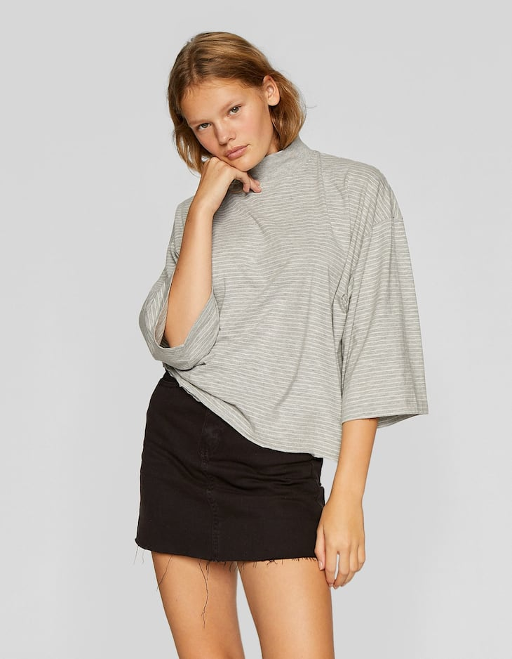 Gestreept T-shirt met korte mouw