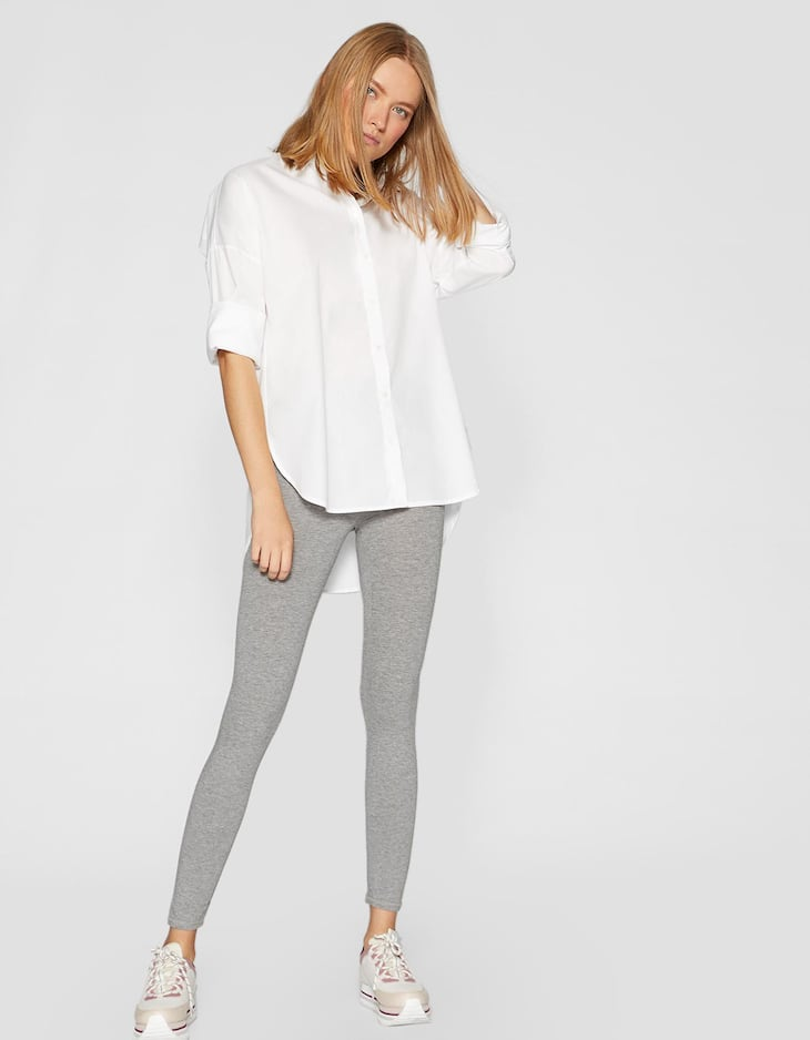 Knöchellange Basic Leggings