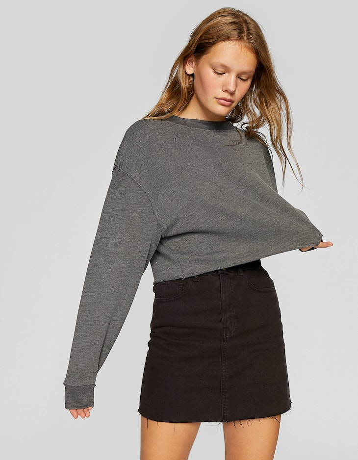 Basic washed-effect sweatshirt