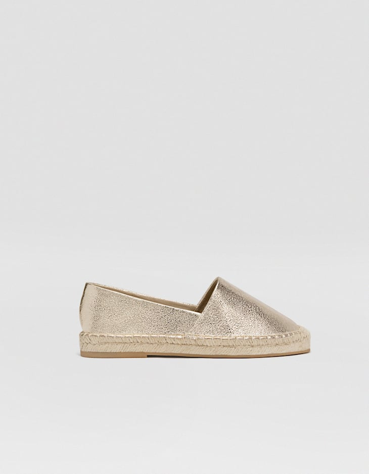 Espadrille mit Metallic-Finish