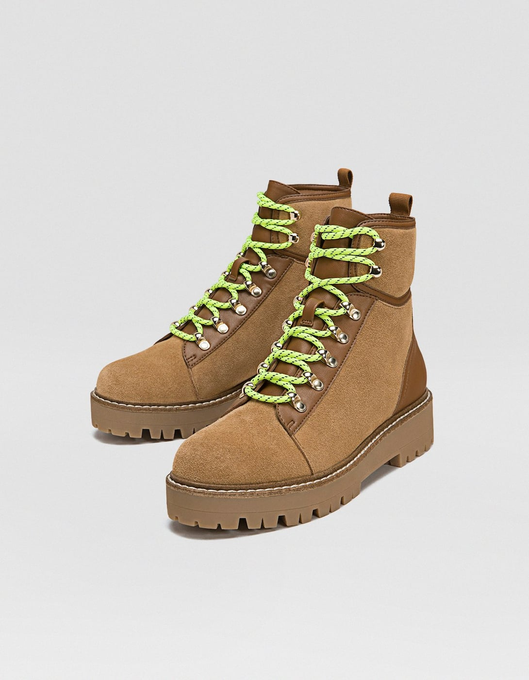 0e51f44a166 REF. 2947/041-I2018 | Composition and care. LEATHER track sole mountain  boots. Heel 3.5 cm