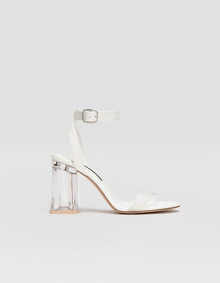 Sandale à talon methacrylate