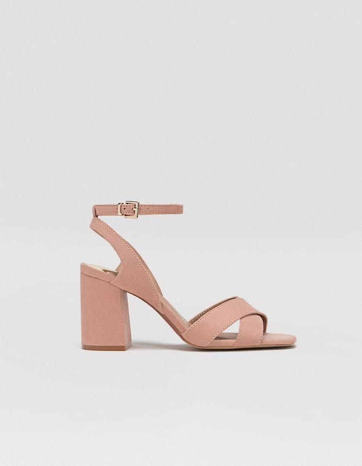 Sandalo tacco nude