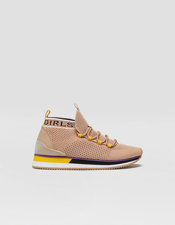Fabric high-top trainers