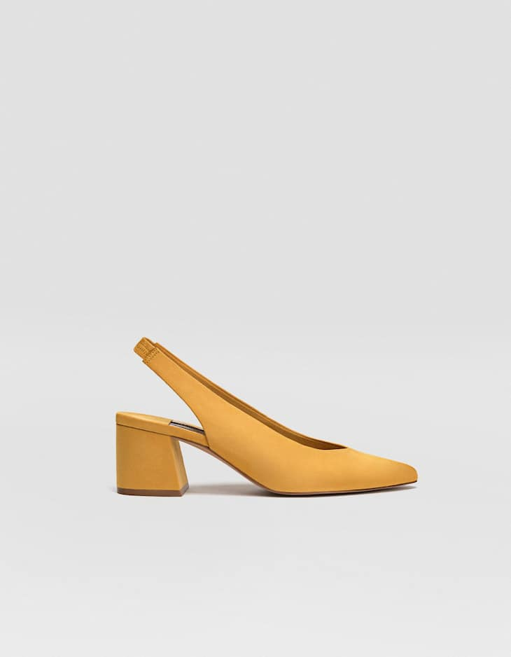 Slingback mid-heel court shoes