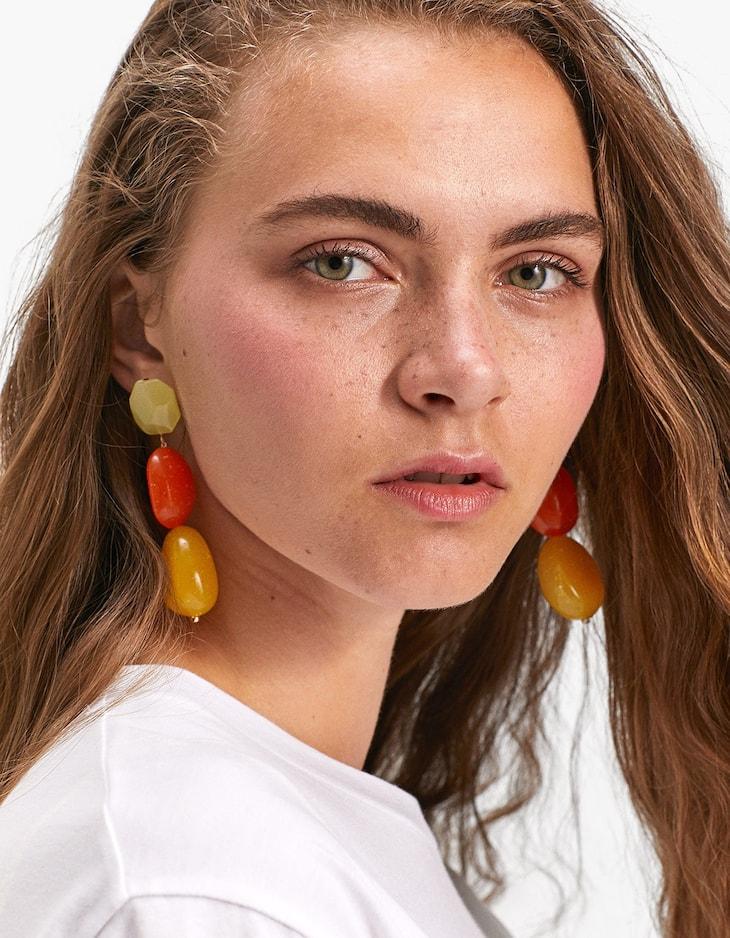 Boucles d'oreilles pierres bonbons