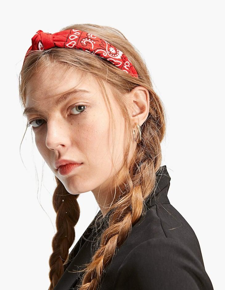 Bandanna print rigid headband