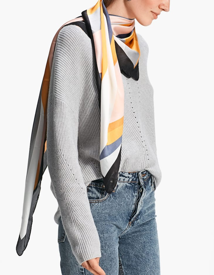 Colourful striped scarf