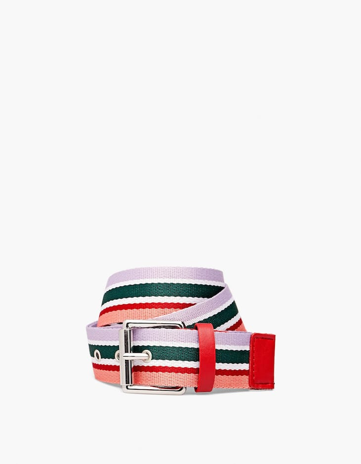Striped sporty belt