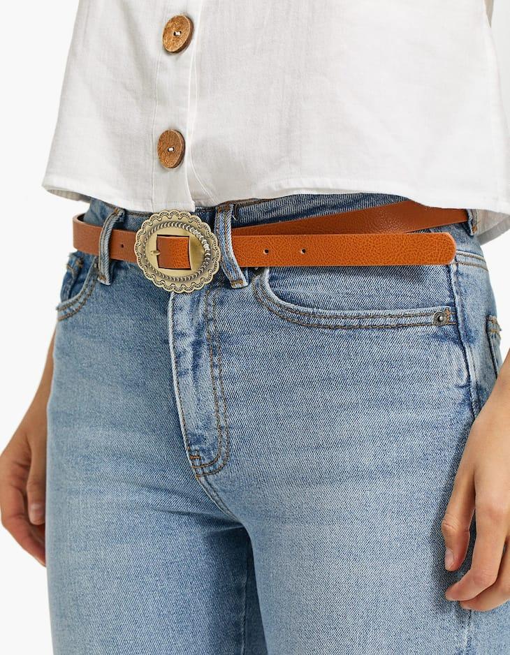 Cowboy buckle belt