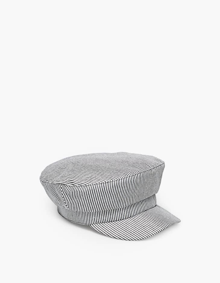 Striped nautical cap