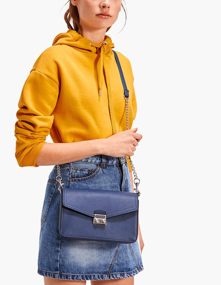Crossbody bag with hardware