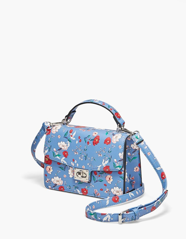 Satchel print flowers