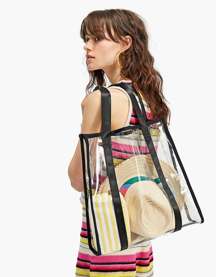 Transparent shopper bag