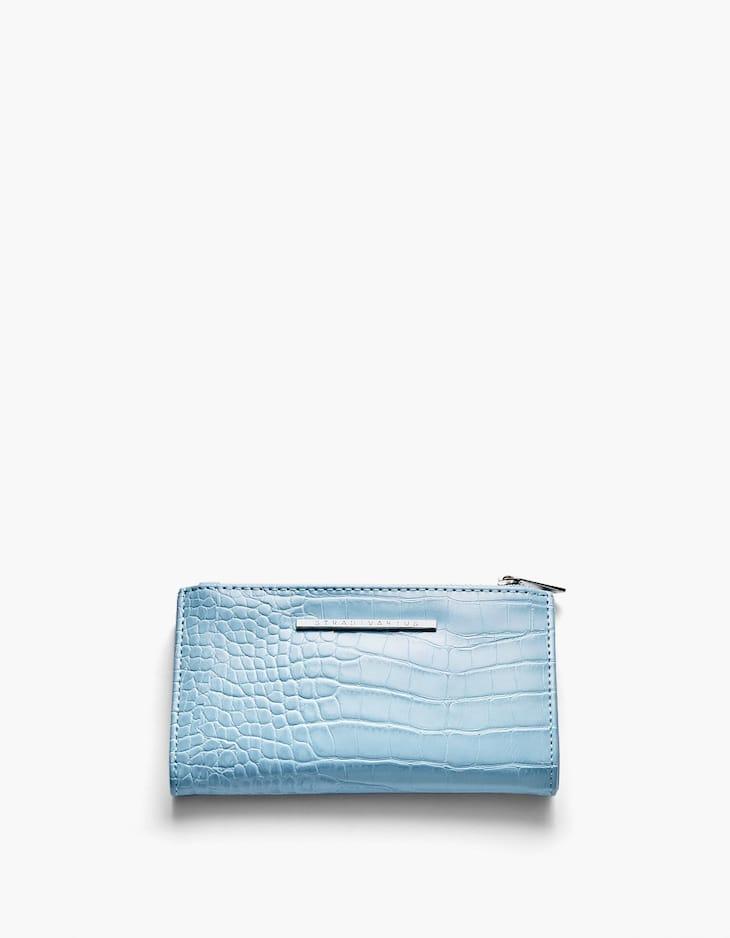 Timsah derisi görünümlü basic cüzdan