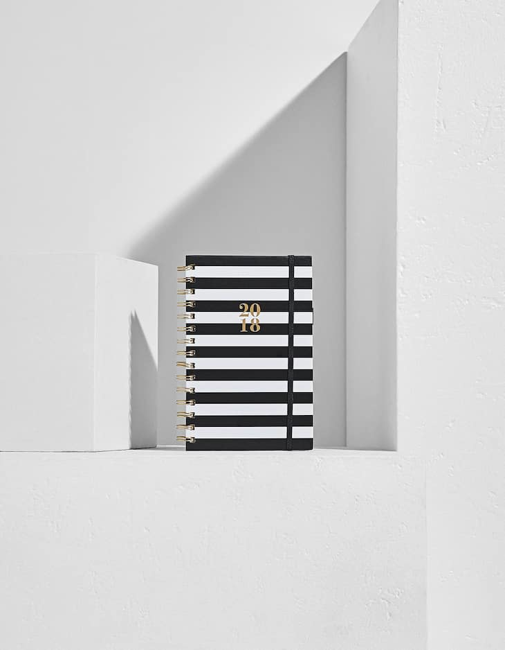 Striped 2018 hard cover diary